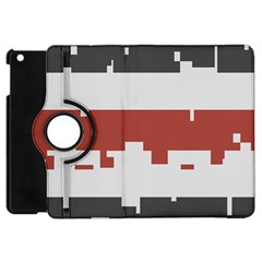 Girl Flags Plaid Red Black Apple Ipad Mini Flip 360 Case