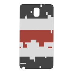 Girl Flags Plaid Red Black Samsung Galaxy Note 3 N9005 Hardshell Back Case by Mariart