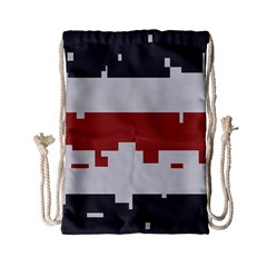Girl Flags Plaid Red Black Drawstring Bag (small) by Mariart