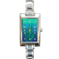 Gender Sea Flags Leaf Rectangle Italian Charm Watch by Mariart