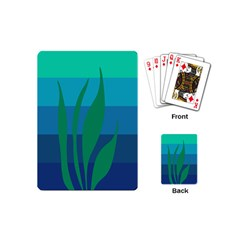 Gender Sea Flags Leaf Playing Cards (mini)  by Mariart