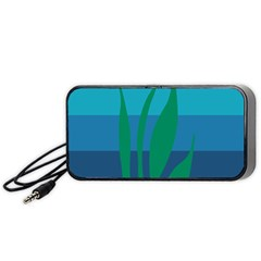 Gender Sea Flags Leaf Portable Speaker (black) by Mariart