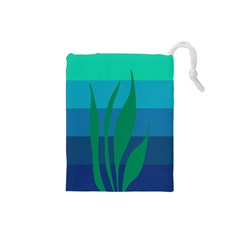 Gender Sea Flags Leaf Drawstring Pouches (small)