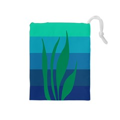Gender Sea Flags Leaf Drawstring Pouches (medium)  by Mariart