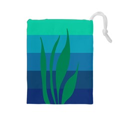Gender Sea Flags Leaf Drawstring Pouches (large)  by Mariart