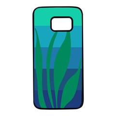 Gender Sea Flags Leaf Samsung Galaxy S7 Black Seamless Case by Mariart
