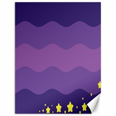 Glimragender Flags Wave Waves Chevron Purple Blue Star Yellow Space Canvas 12  X 16   by Mariart