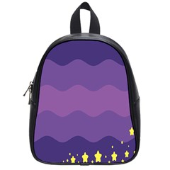 Glimragender Flags Wave Waves Chevron Purple Blue Star Yellow Space School Bags (small)  by Mariart
