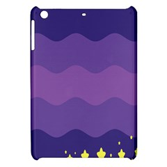 Glimragender Flags Wave Waves Chevron Purple Blue Star Yellow Space Apple Ipad Mini Hardshell Case by Mariart