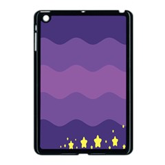 Glimragender Flags Wave Waves Chevron Purple Blue Star Yellow Space Apple Ipad Mini Case (black) by Mariart
