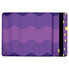Glimragender Flags Wave Waves Chevron Purple Blue Star Yellow Space Ipad Air 2 Flip by Mariart