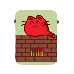 Happy Cat Fire Animals Cute Red Apple Ipad 2/3/4 Protective Soft Cases by Mariart