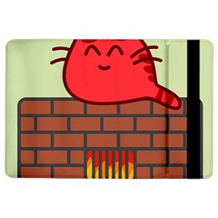 Happy Cat Fire Animals Cute Red Ipad Air 2 Flip by Mariart