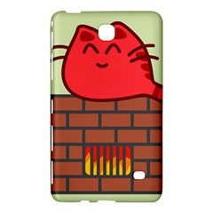 Happy Cat Fire Animals Cute Red Samsung Galaxy Tab 4 (8 ) Hardshell Case  by Mariart