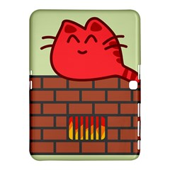 Happy Cat Fire Animals Cute Red Samsung Galaxy Tab 4 (10 1 ) Hardshell Case  by Mariart