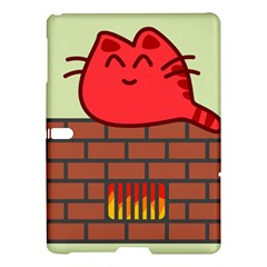 Happy Cat Fire Animals Cute Red Samsung Galaxy Tab S (10 5 ) Hardshell Case  by Mariart