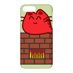 Happy Cat Fire Animals Cute Red Apple Iphone 7 Plus Hardshell Case by Mariart