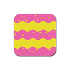Glimra Gender Flags Star Space Rubber Coaster (square)  by Mariart