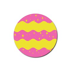 Glimra Gender Flags Star Space Rubber Round Coaster (4 Pack)  by Mariart