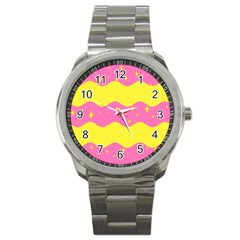 Glimra Gender Flags Star Space Sport Metal Watch by Mariart