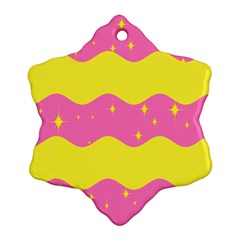 Glimra Gender Flags Star Space Snowflake Ornament (two Sides) by Mariart