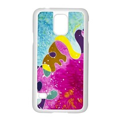 Fabric Rainbow Samsung Galaxy S5 Case (white) by Mariart