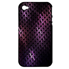 Light Lines Purple Black Apple Iphone 4/4s Hardshell Case (pc+silicone)