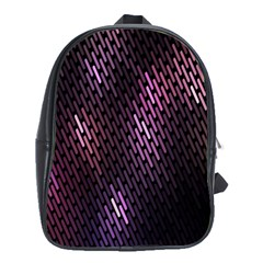 Light Lines Purple Black School Bags (xl)  by Mariart