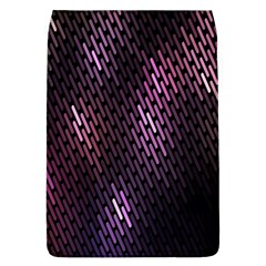 Light Lines Purple Black Flap Covers (l)  by Mariart