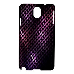 Light Lines Purple Black Samsung Galaxy Note 3 N9005 Hardshell Case by Mariart