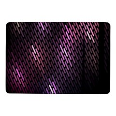 Light Lines Purple Black Samsung Galaxy Tab Pro 10 1  Flip Case by Mariart