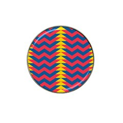Lllustration Geometric Red Blue Yellow Chevron Wave Line Hat Clip Ball Marker by Mariart