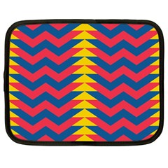 Lllustration Geometric Red Blue Yellow Chevron Wave Line Netbook Case (xxl)  by Mariart