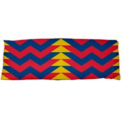 Lllustration Geometric Red Blue Yellow Chevron Wave Line Body Pillow Case (dakimakura) by Mariart