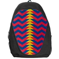 Lllustration Geometric Red Blue Yellow Chevron Wave Line Backpack Bag by Mariart
