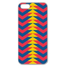 Lllustration Geometric Red Blue Yellow Chevron Wave Line Apple Seamless Iphone 5 Case (clear) by Mariart