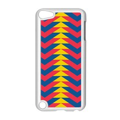 Lllustration Geometric Red Blue Yellow Chevron Wave Line Apple Ipod Touch 5 Case (white) by Mariart