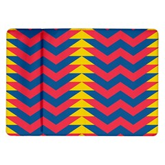 Lllustration Geometric Red Blue Yellow Chevron Wave Line Samsung Galaxy Tab 10 1  P7500 Flip Case by Mariart