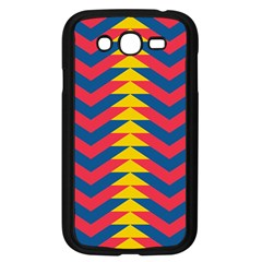 Lllustration Geometric Red Blue Yellow Chevron Wave Line Samsung Galaxy Grand Duos I9082 Case (black) by Mariart