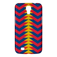 Lllustration Geometric Red Blue Yellow Chevron Wave Line Samsung Galaxy Mega 6 3  I9200 Hardshell Case by Mariart