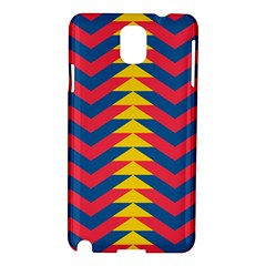 Lllustration Geometric Red Blue Yellow Chevron Wave Line Samsung Galaxy Note 3 N9005 Hardshell Case by Mariart