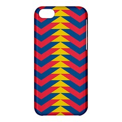 Lllustration Geometric Red Blue Yellow Chevron Wave Line Apple Iphone 5c Hardshell Case by Mariart