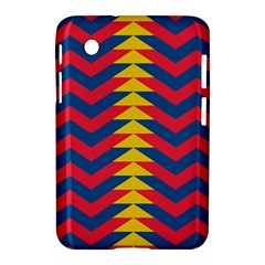 Lllustration Geometric Red Blue Yellow Chevron Wave Line Samsung Galaxy Tab 2 (7 ) P3100 Hardshell Case  by Mariart