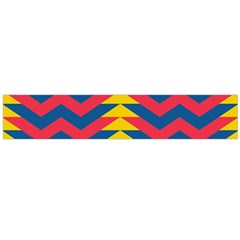 Lllustration Geometric Red Blue Yellow Chevron Wave Line Flano Scarf (large) by Mariart