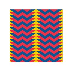 Lllustration Geometric Red Blue Yellow Chevron Wave Line Small Satin Scarf (square) by Mariart
