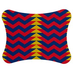 Lllustration Geometric Red Blue Yellow Chevron Wave Line Jigsaw Puzzle Photo Stand (bow) by Mariart