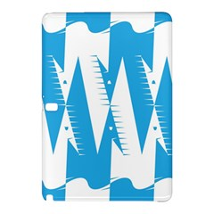 Make Tessellation Bird Tessellation Blue White Samsung Galaxy Tab Pro 10 1 Hardshell Case by Mariart