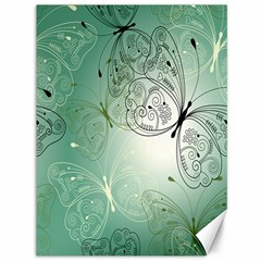 Glass Splashback Abstract Pattern Butterfly Canvas 36  X 48   by Mariart