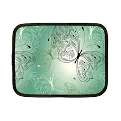 Glass Splashback Abstract Pattern Butterfly Netbook Case (small)  by Mariart