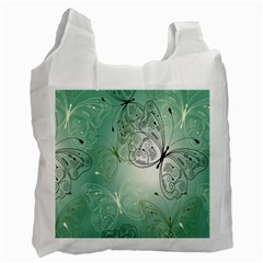 Glass Splashback Abstract Pattern Butterfly Recycle Bag (one Side) by Mariart